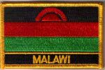 Malawi Embroidered Flag Patch, style 09.